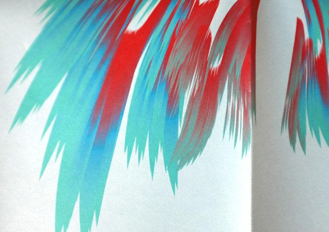 Affiche vœux - 3 couleurs Pantone - papier couleur/.