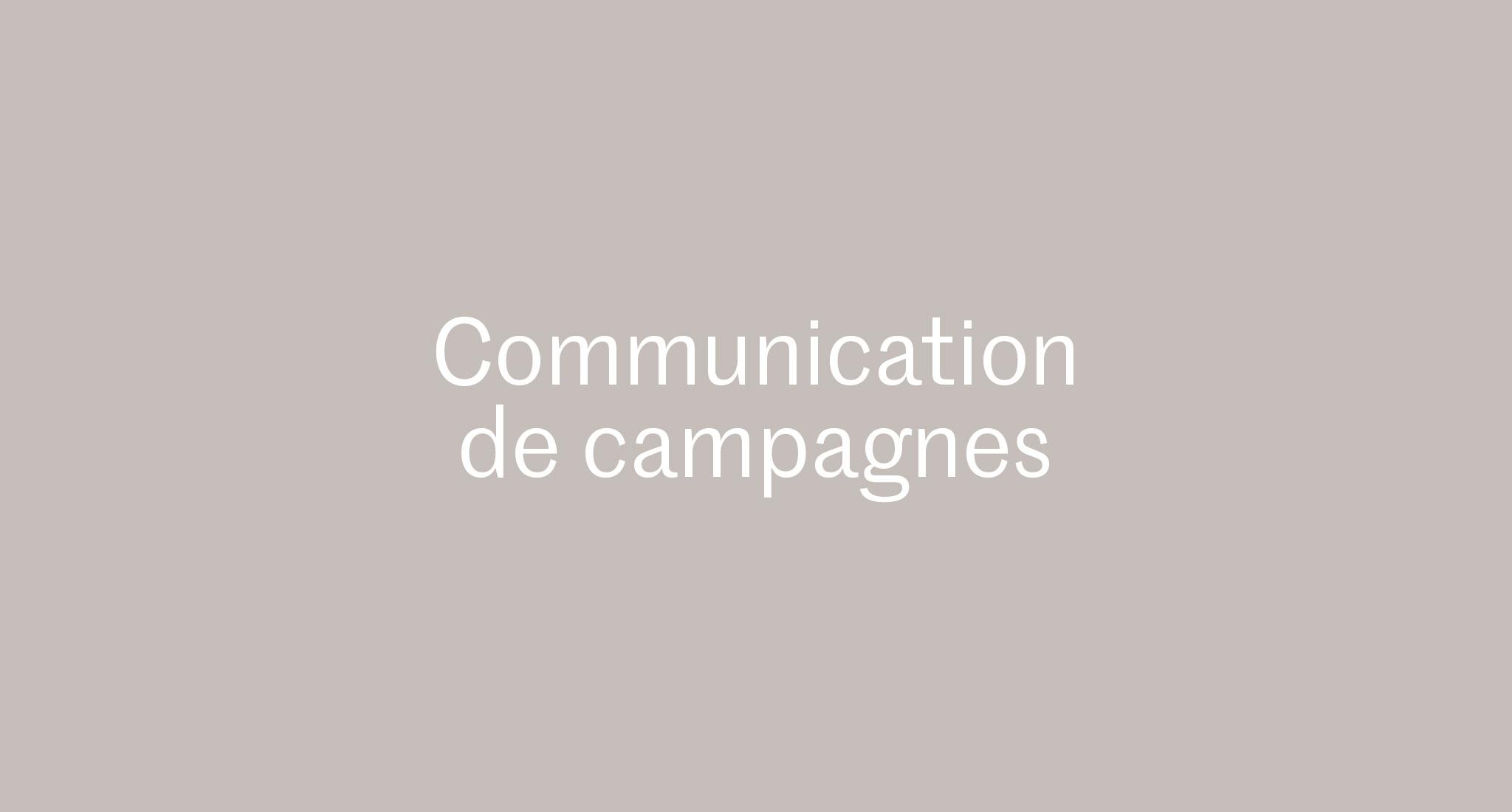 Visuels et concepts de campagne