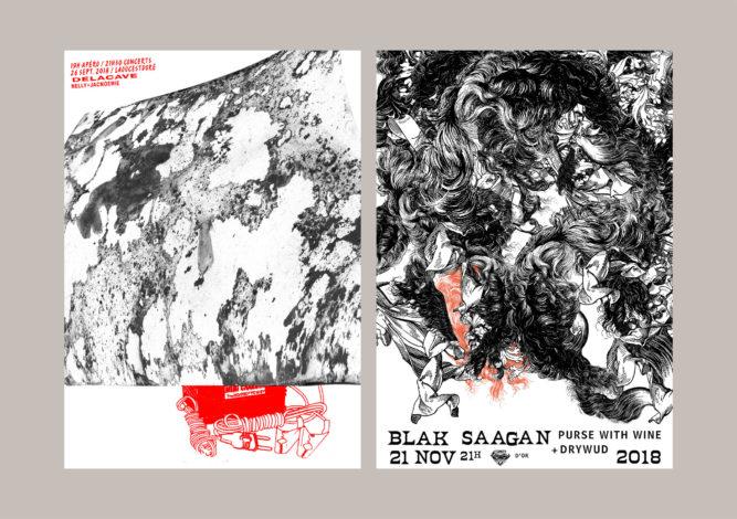 posters Blak Saagan & Delacave